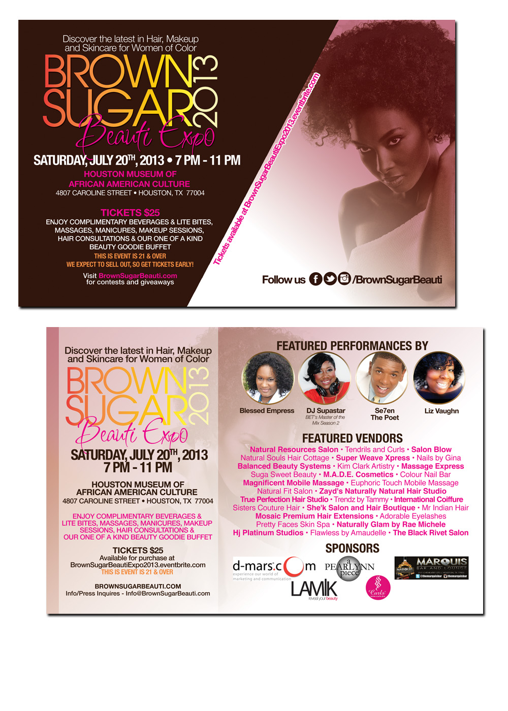 Brown Sugar Beauti Expo 2013 Flyer