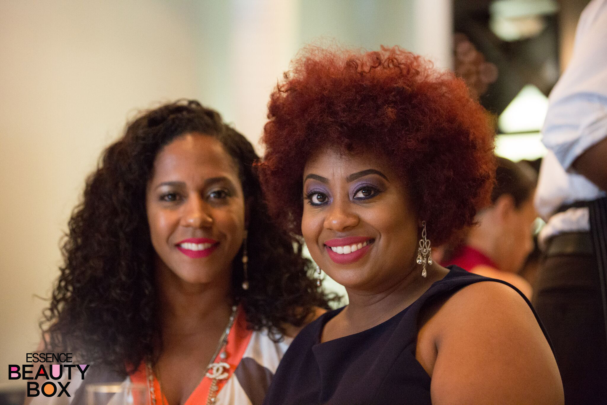 CURLS CEO and Founder Mahisha Dellinger (L) and Guest - Photo Credit: Essencebeautybox.com & E. Mackey & Roy Harvey